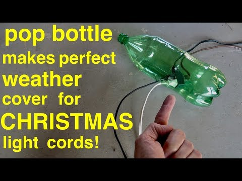 DIY ● Pop Bottle Christmas Light Extension Cord Cover