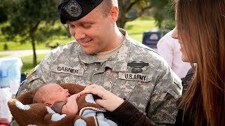 Soldier Meets Baby for the First Time Compilation (2017)