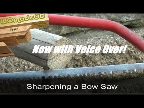 Bow Saw Sharpening Quick Guide with Voice Over