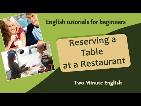 Reserving a Table at a Restaurant - Restaurant English - Basic English Vocabulary for Restaurants
