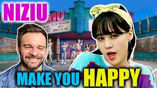 Reacting to NIZIU - MAKE YOU HAPPY M/V For The First Time! | THEY MADE ME HAPPY! 😁