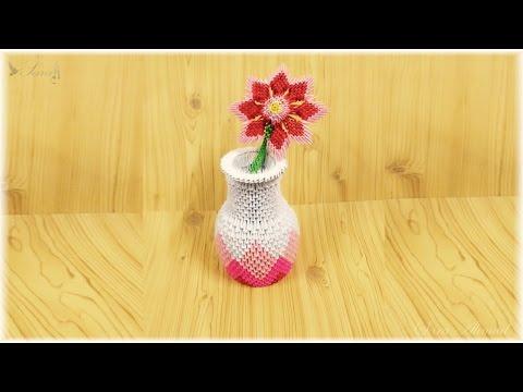 3d origami - Vase Flowers