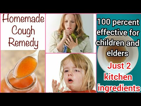 Homemade Cough Remedy: How to make cough syrup at home /  Home made cough Remedy for kids / elders