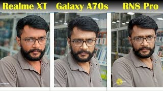 Realme XT vs Galaxy A70s vs Redmi Note 8 Pro - 64MP Camera 📷🔥