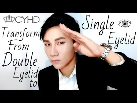 【CYHD Beauty】Transform from Double eyelid to Single eyelid