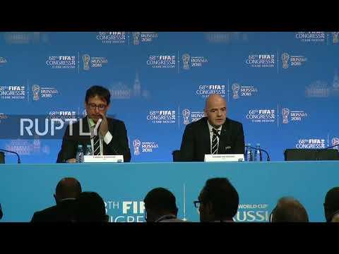 Russia: Infantino calls USA-Mexico-Canada bid 'historic' in FIFA
