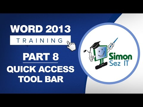 Word 2013 for Beginners Part 8: The Quick Access Toolbar (QAT)