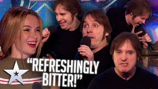 """""""Refreshingly bitter"""" Impressionist becomes Simon's new FAVOURITE!   Auditions   BGT Series 9"""