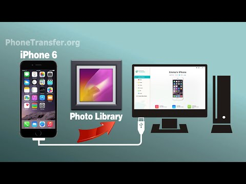 How to Transfer Photo Library from iPhone 6 to Computer, Backup iPhone 6 Photo Library to PC