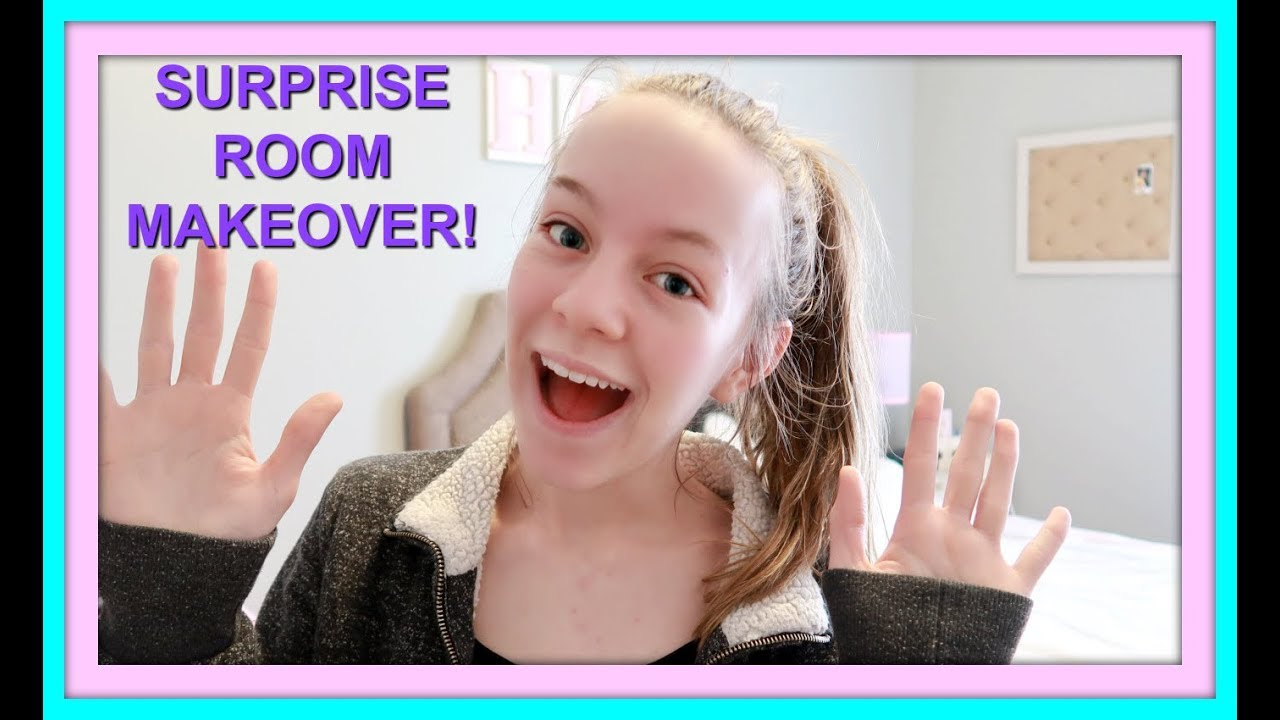 ROOM MAKEOVER FOR TEENS! | SURPRISE BEDROOM TOUR