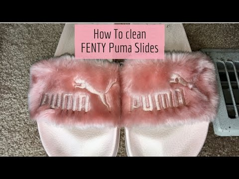 How to clean your FENTY Puma Fur slides DIY Tutorial