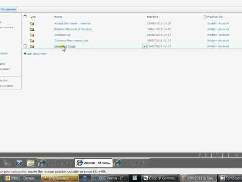 CRM 2011 Document Management with Sharepoint 2010