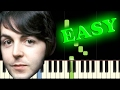 THE BEATLES - HEY JUDE - Easy Piano Tutorial