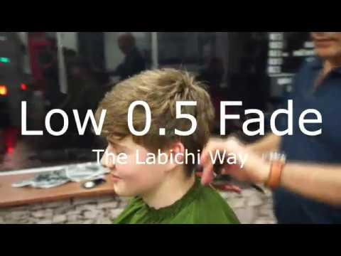 Easy 0.5 Low Fade - Messy Quiff Pomp - Thick Hair Tutorial - Barber