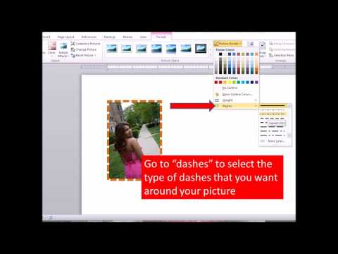 How to add a border around a picture in Word