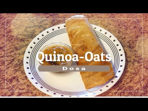 Oats Quinoa Dosa  |Healthy breakfast| (Diabetic friendly)| Protein Quinoa Oats & Lentil Dosa