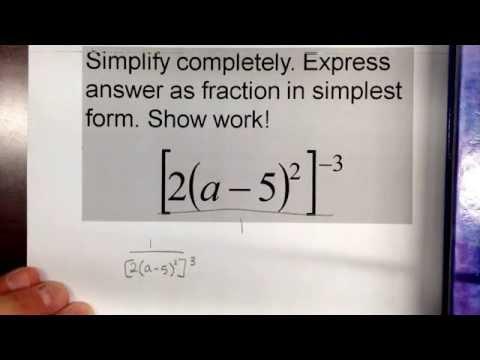 Simplifying negative exponents #2