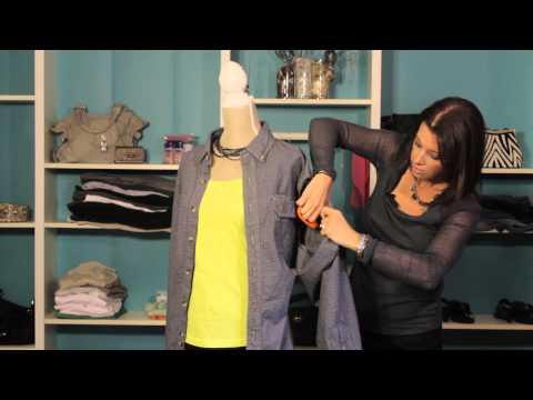How to Cut Up a Plaid Shirt Into a Vest : Fashion Magic