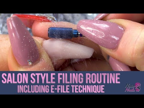 E-Filing Acrylic Nails - Salon Style Tutorial - Kirsty's Filing Routine