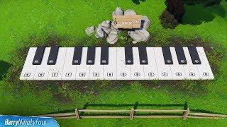Pleasant Park & Lonely Lodge Piano Locations Guide - Fortnite Battle Royale (Season 7 Challenge)