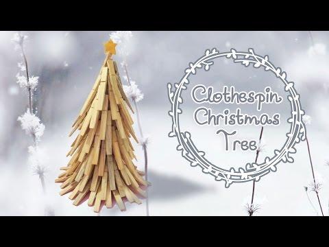 Non-traditional Clothespin Christmas Tree DIY | Sunny DIY