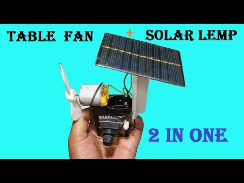 Haw to make Solar charging Led lamp and table fan easyle at home
