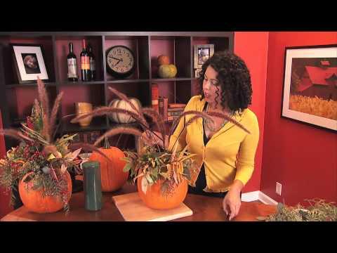 SUPER EASY Pumpkin Centerpiece