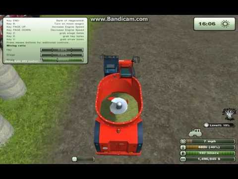 Farming Simulator 2013 Feeding and Bedding Cows with The Bale Grab Mod