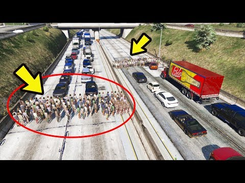 O que acontece se uma multidão fechar uma rodovia? gta 5