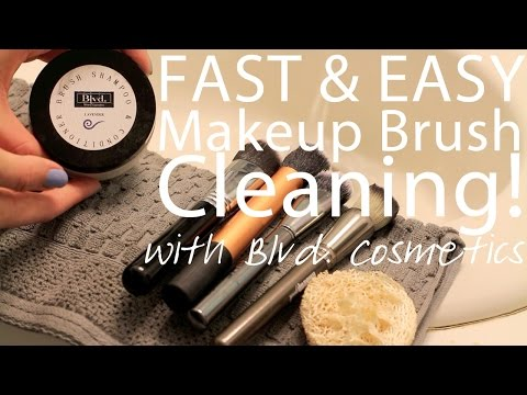 How to Clean Your Makeup Brushes with Blvd Cosmetics in 30 Seconds!