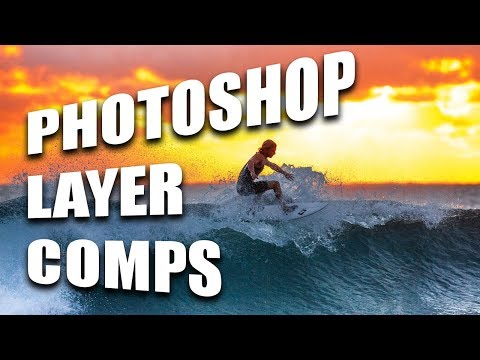 Photoshop Layer Comps Tutorial and Adjusting in InDesign