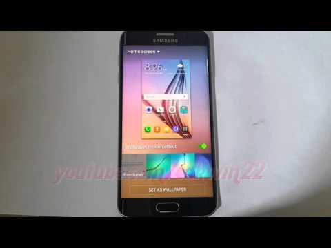 Android Lollipop : How to change home screen wallpaper on Samsung Galaxy S6