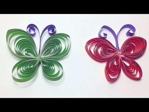 Quilling Butterfly-How to make Quilling Butterfly ? Easy Quilling Instructions step by step.