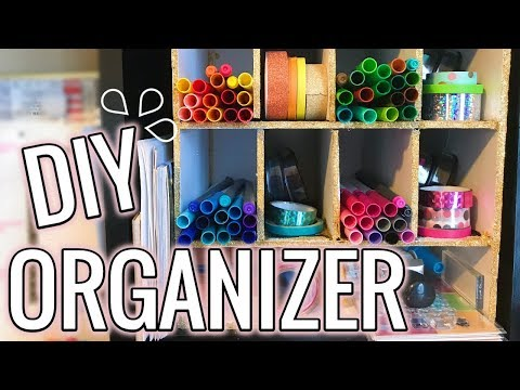 DIY DOLLAR TREE Desk Cubby Organizer | Bullet Journal Supplies Organization