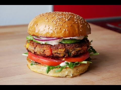Veggie Burger Selber Machen (Rezept) || Homemade Vegetable Burger (Recipe) || [ENG SUBS]