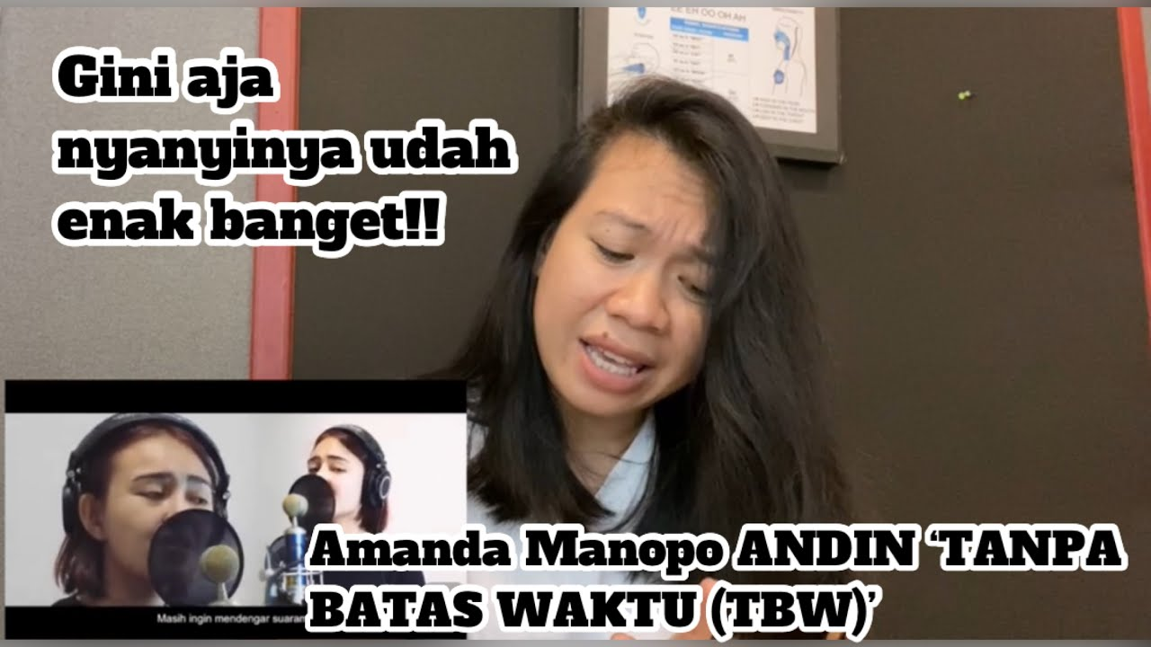 Amanda Manopo ANDIN 'TANPA BATAS WAKTU' (TBW) Cover |vocal coach reaction (Indonesia)