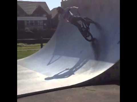 BMX vert ramp riding air