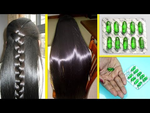 2 Ways To Use Vitamin E Capsules For Faster Hair Growth/ Get Long Hair, Thick hair, Stops hair fall