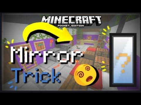 MCPE CMD || How to make a Working Mirror / Cách để làm một chiếc Gương || Minecraft Pe