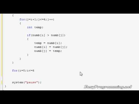 Easy Programming - Beginner C++ Tutorial - The Bubble Sort (23)