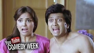 Riteish and Lara Dutta in trouble - Comedy Sequence - Housefull