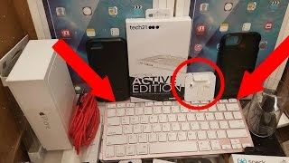 (CHASED BY SECURITY) HUGE APPLE STORE DUMPSTER DIVE HAUL!! Free Apple Products!