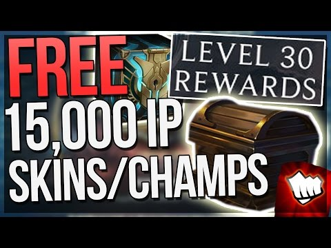 NEW REWARDS!! FREE SKINS, CHAMPIONS, MYSTERY SKINS + 15,000+ IP - Level Up Rewards League of Legends