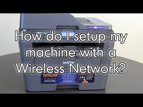 Setup wireless using the control panel HLL2380DW MFCL2720DW MFCL2740DW