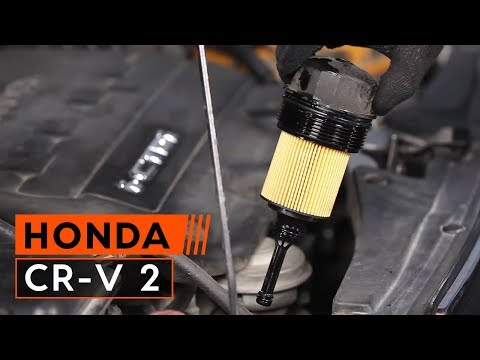 How to replace Engine Oil and Oil filter on HONDA CR-V TUTORIAL | AUTODOC