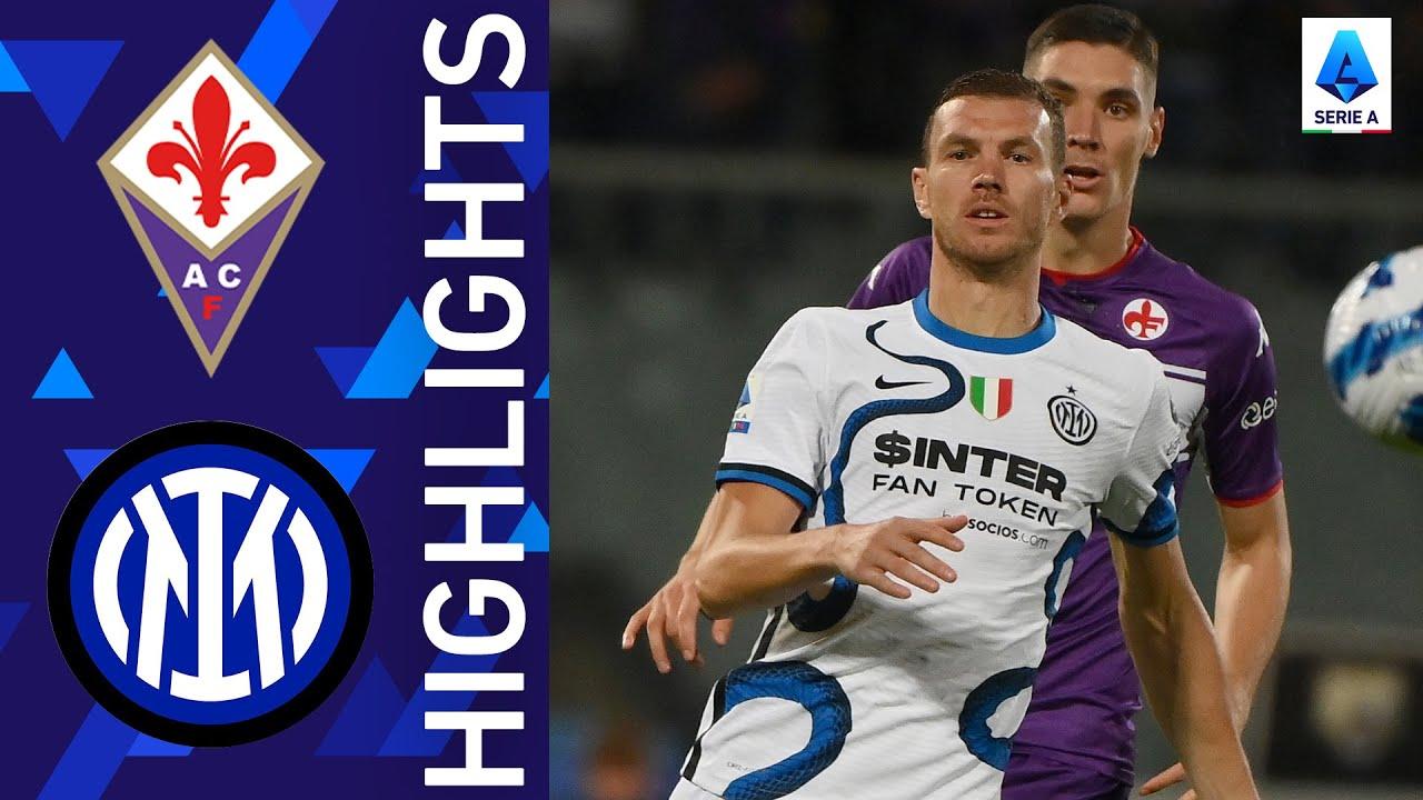 Fiorentina 1-3 Inter   Inter beat La Viola to go top of the log   Serie A 2021/22