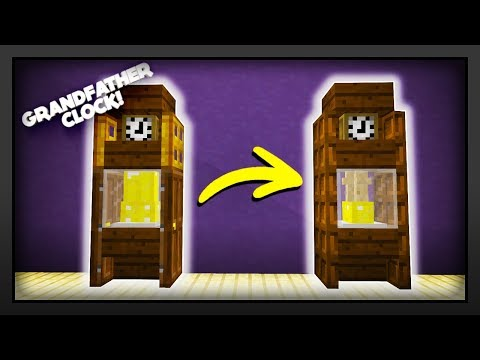 Minecraft - How To Make A Grandfather Clock (Improved version)