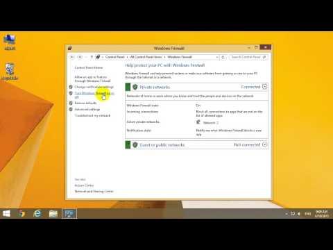 How to turn OFF Windows Firewall (Windows 8.1)