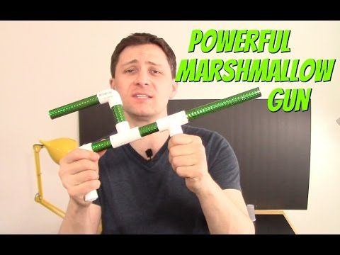 How to make Powerful Mashmallow Gun DIY