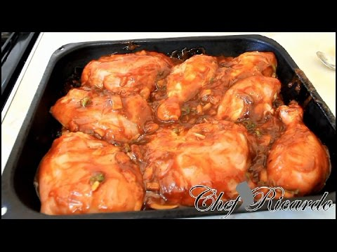 Bbq Chicken In The Oven: Easy Barbecue Chicken Recipe | Recipes By Chef Ricardo